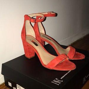I.N.C. Kivah Block heel suede sandals